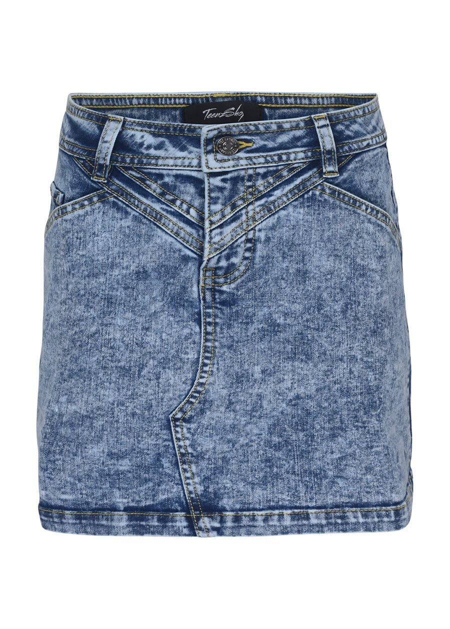 Youth Girls Blue Denim Star Skirt