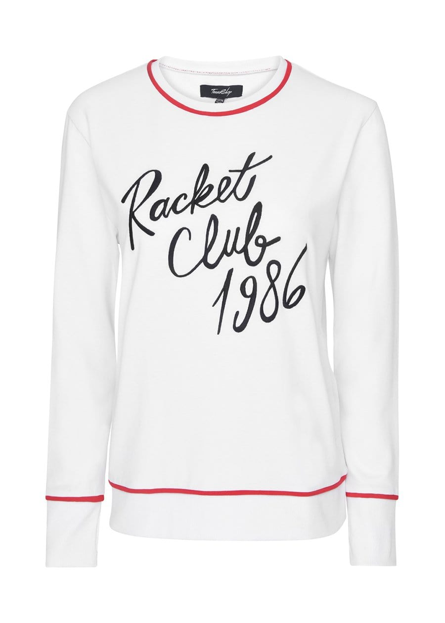 Youth Girls White Racket Club Jumper
