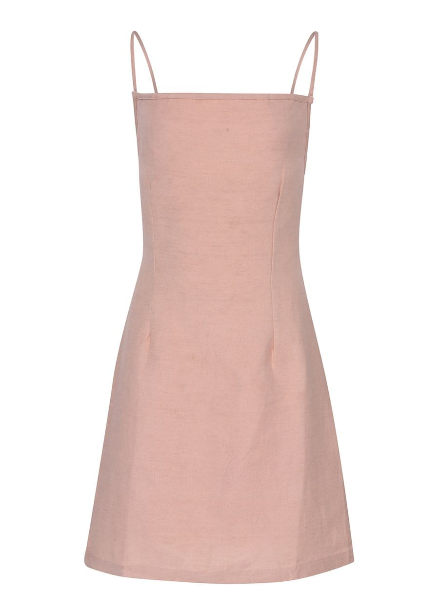 Youth Girls Pink 80's Tie Back Dress