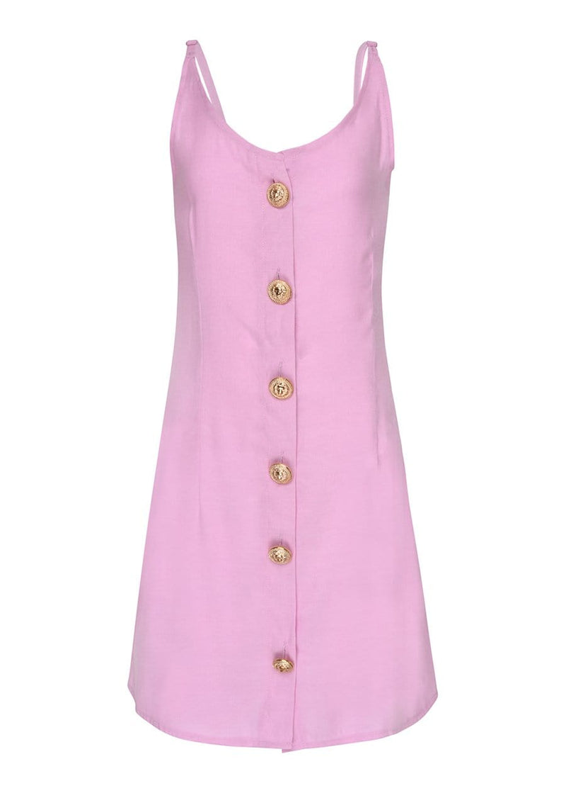 Youth Girls Pink Linen Dress-SUSTAINABLE FABRIC