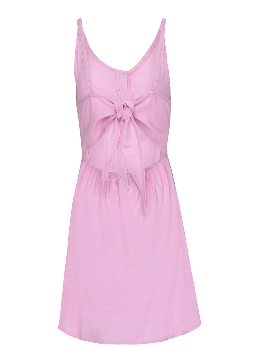 TeenzShop Youth Girls Pink Linen Dress-SUSTAINABLE FABRIC