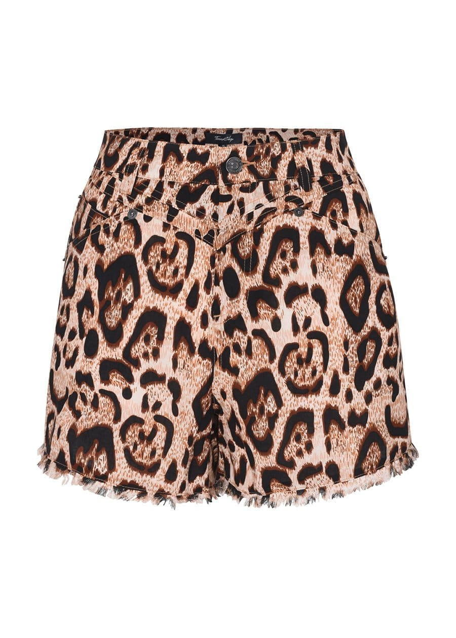 Teenzshop Youth Girls Leopard Print Summer Shorts-SUSTAINABLE FABRIC
