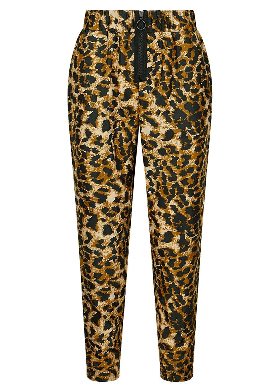 TeenzShop Youth Girls Leopard Print Lightweight Shell Joggers - SUSTAINABLE FABRIC