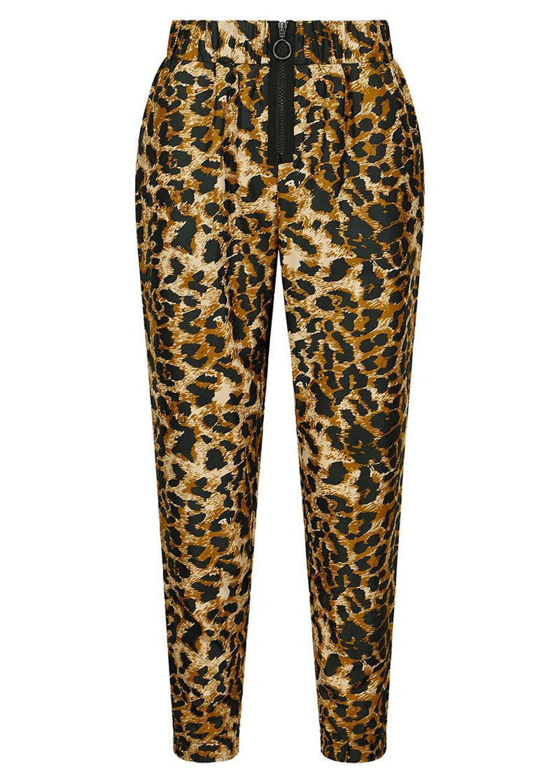 Youth Girls Leopard Print Lightweight Shell Joggers - SUSTAINABLE FABRIC