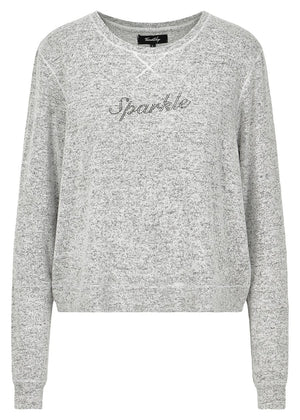 TeenzShop Youth Girls Grey Sparkle Sweater - SUSTAINABLE FABRIC