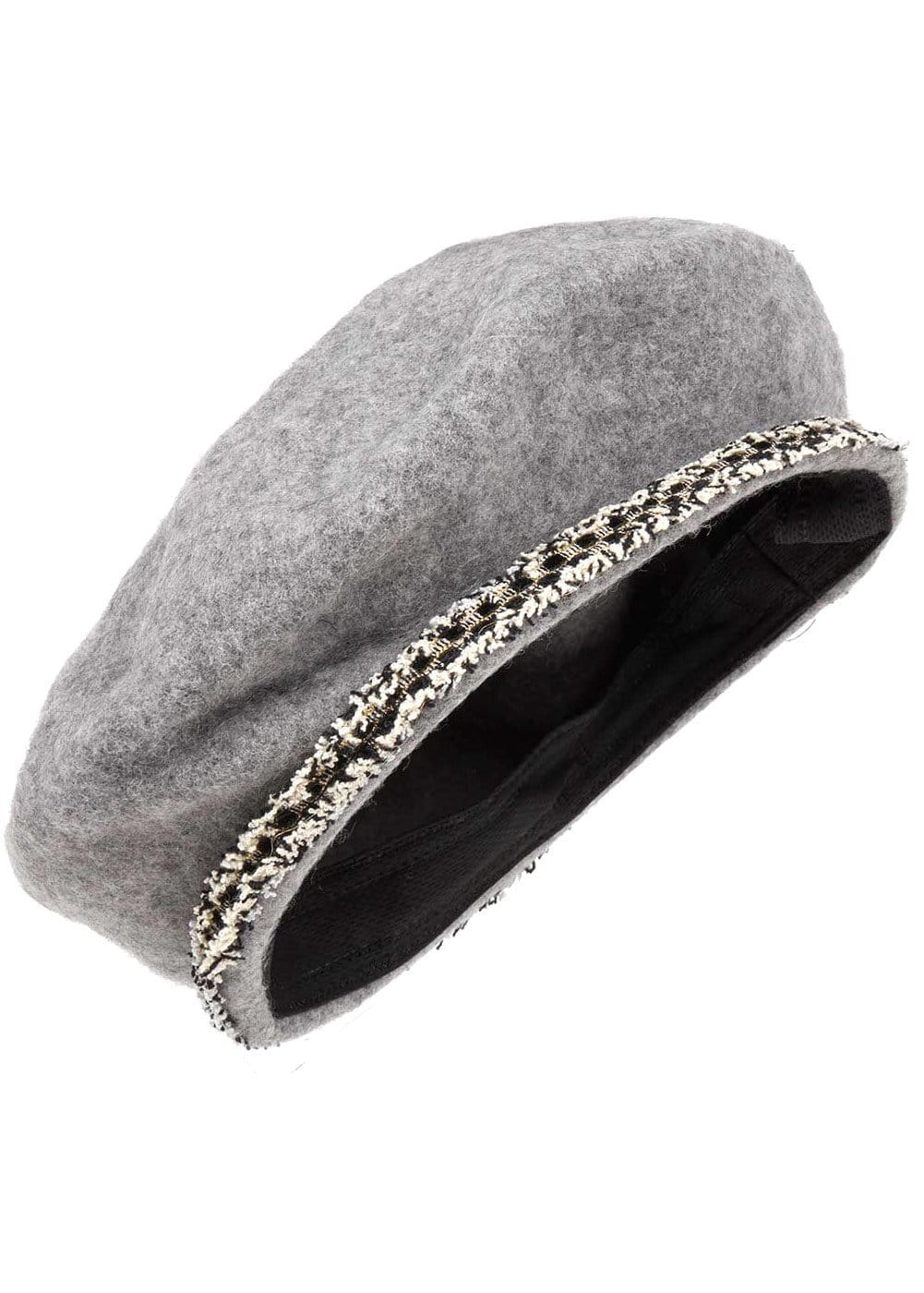 Girls Paris Beret - Grey - Detail