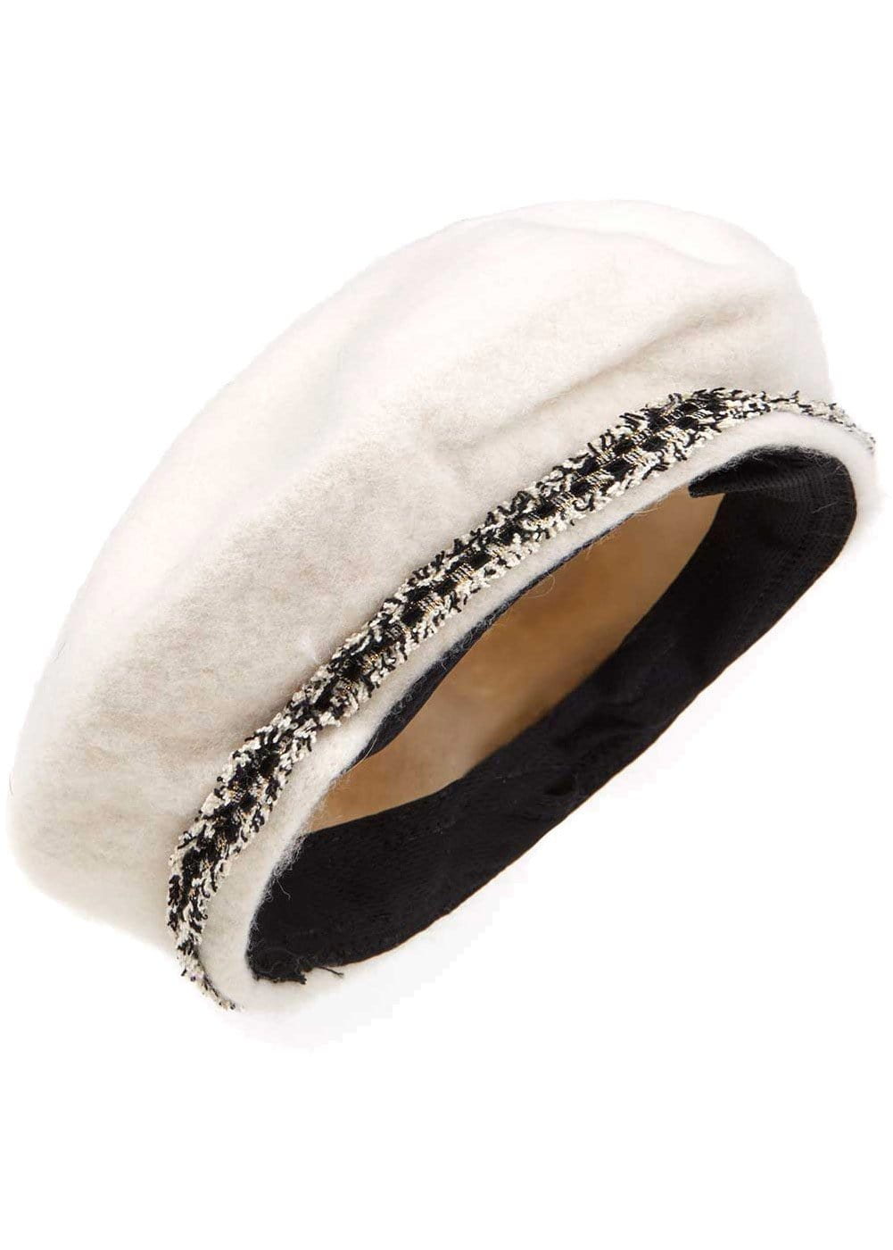 Girls Paris Beret - White - Detail