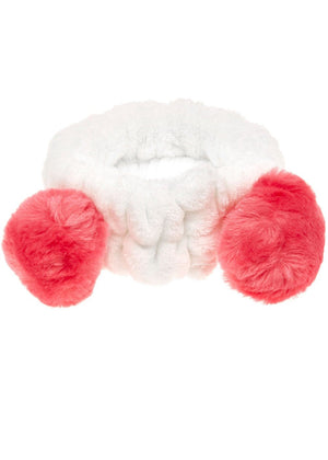 Teenzshop Fuchsia Soft Wash Headband with Ears