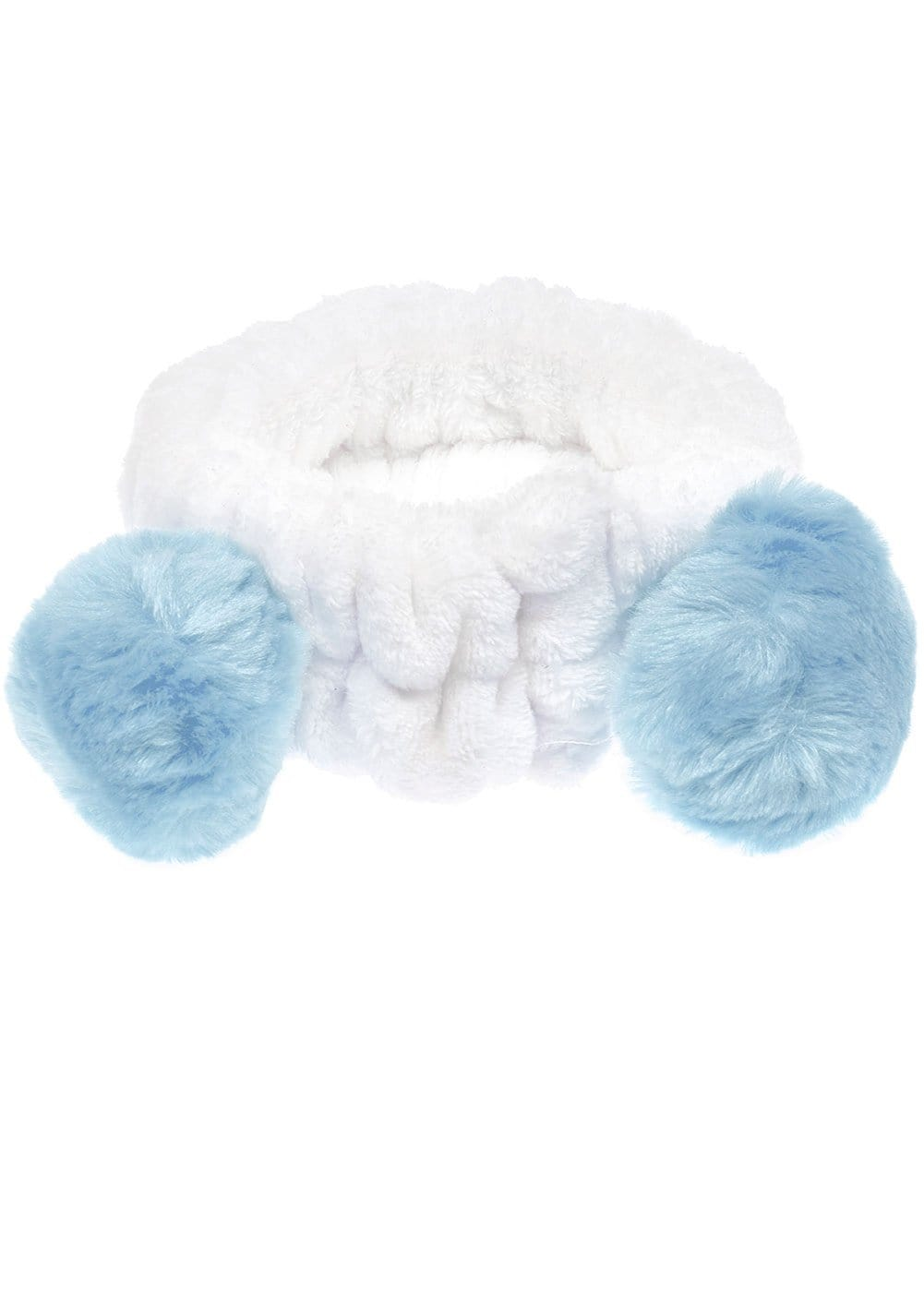Light Blue Wash Headband with Ears