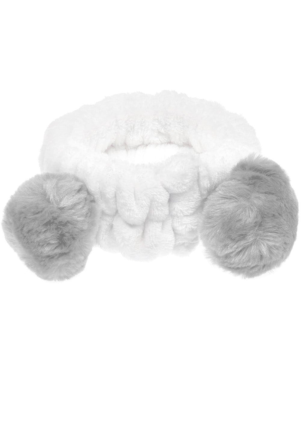 Mink Grey Wash Headband with Ears