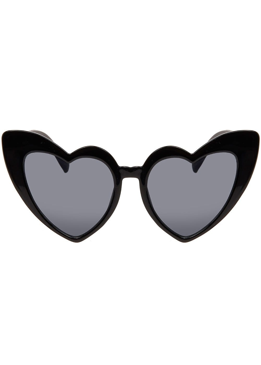 Girls Black Summer Love Sunglasses - Front