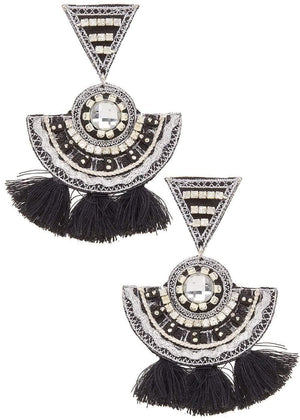 Trea Black Chandelier Earrings