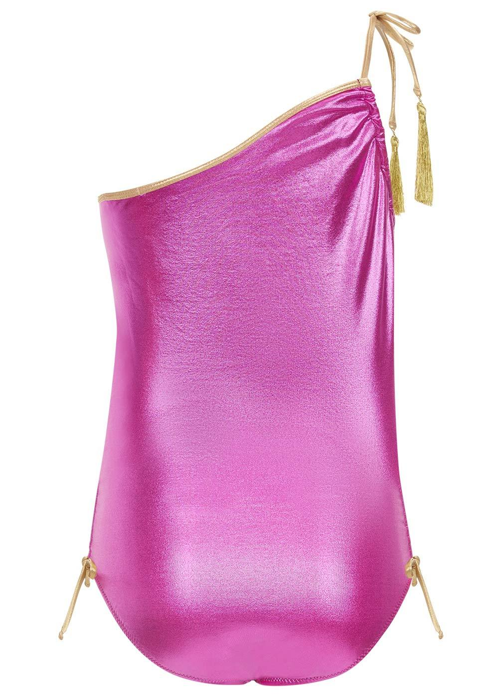 Stella Cove Pink One-Shoulder Swimsuit