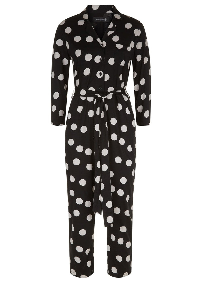 TeenzShop Youth Girls Cotton Polka Boilersuit
