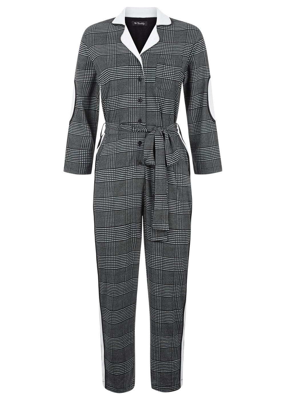 Girls Checker Boilersuit- Front