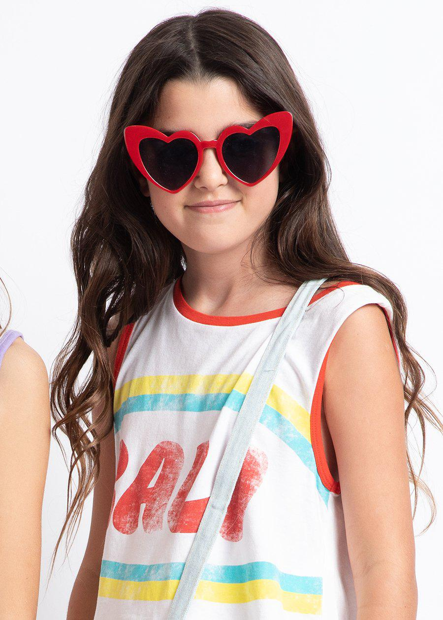 Red Summer Love Sunglasses