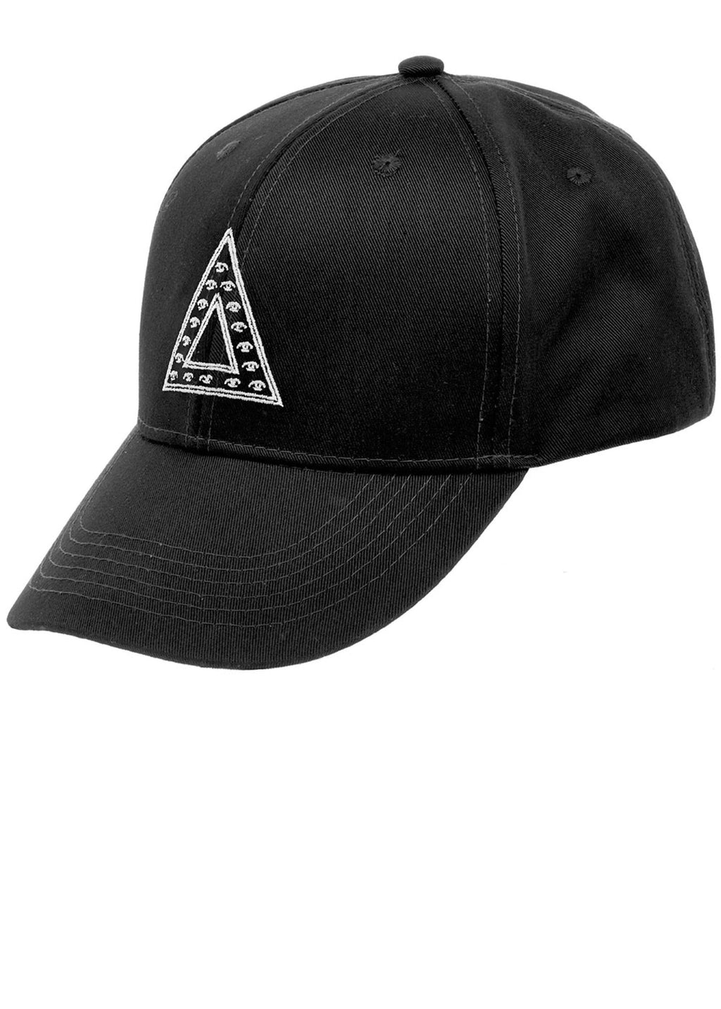 Boys Black Baseball Cap- Front