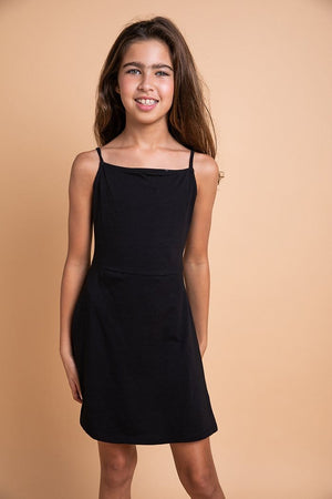 TeenzShop Youth Girls Black Clueless Dress