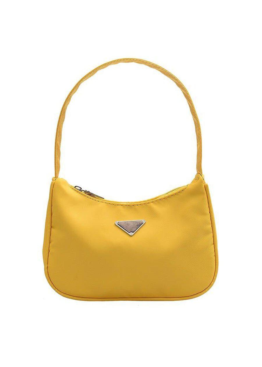 Small Yellow Nylon 90's Handbag