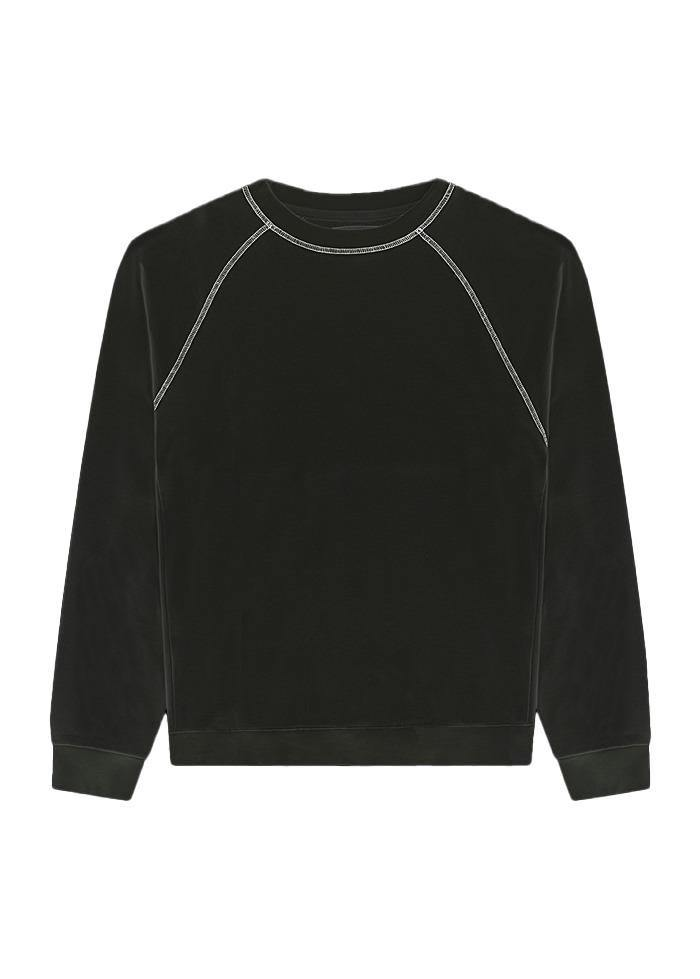 Boys Black Sweatshirt with Contrast Stitching