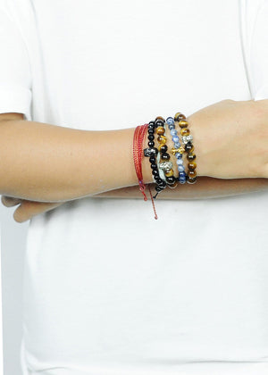 TeenzShop Tiger Eye Skull Bracelet