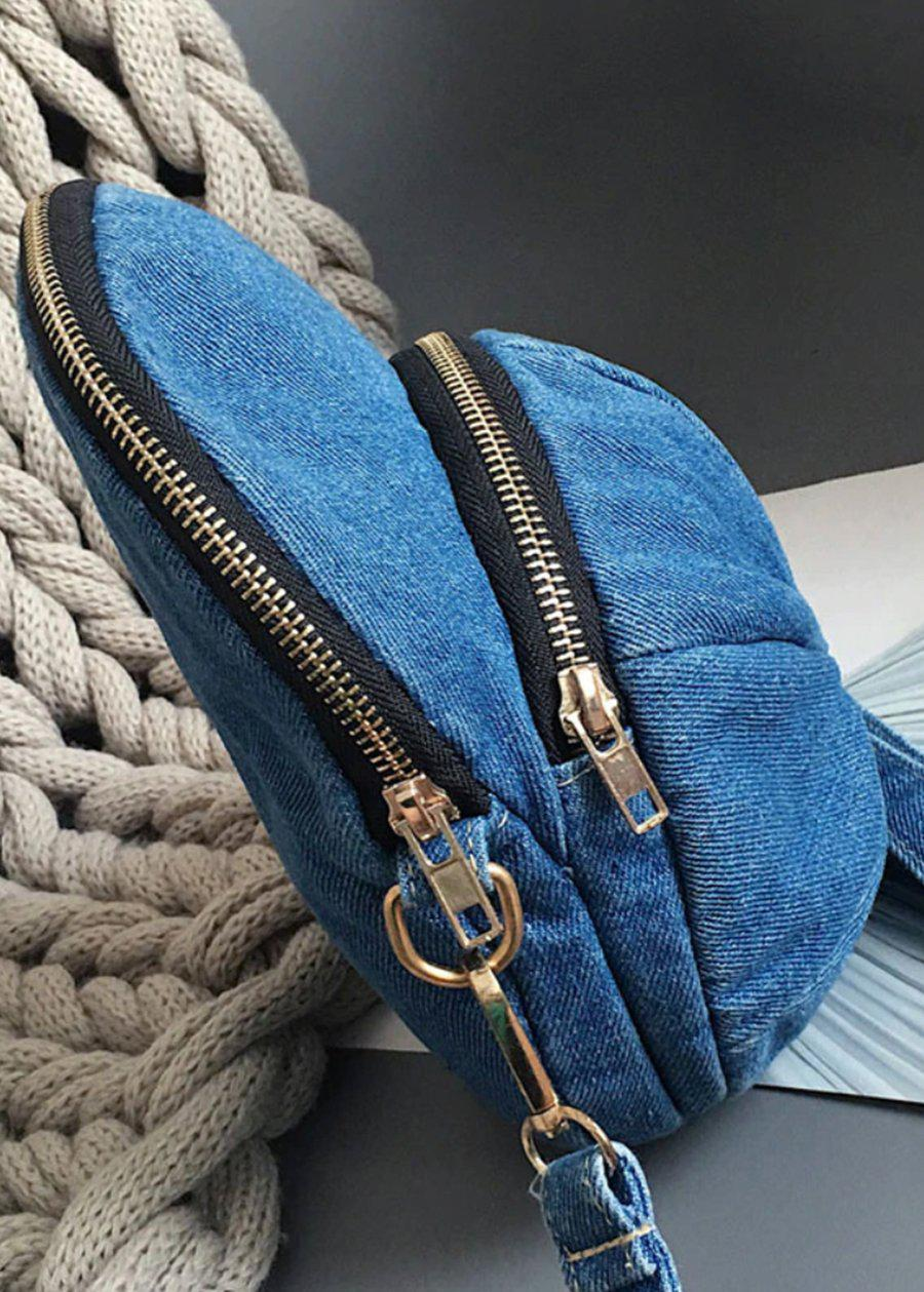 Light Blue Denim Cap Bag-TeenzShop