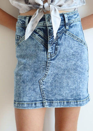 TeenzShop Youth Girls Blue Denim Star Skirt