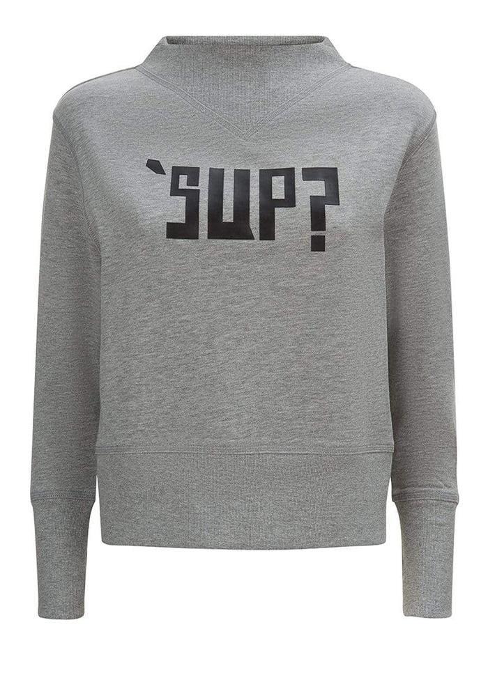 TeenzShop Youth Girls Light Grey SUP? Sweatshirt