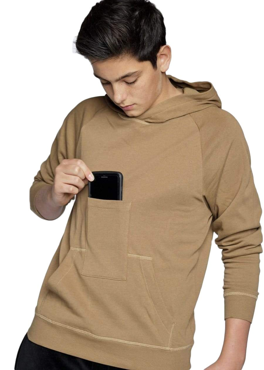 TeenzShop Youth Boys Hoodie With Phone Pocket