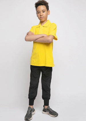 Youth Boys Yellow Short Sleeve Polo - SUSTAINABLE FABRIC