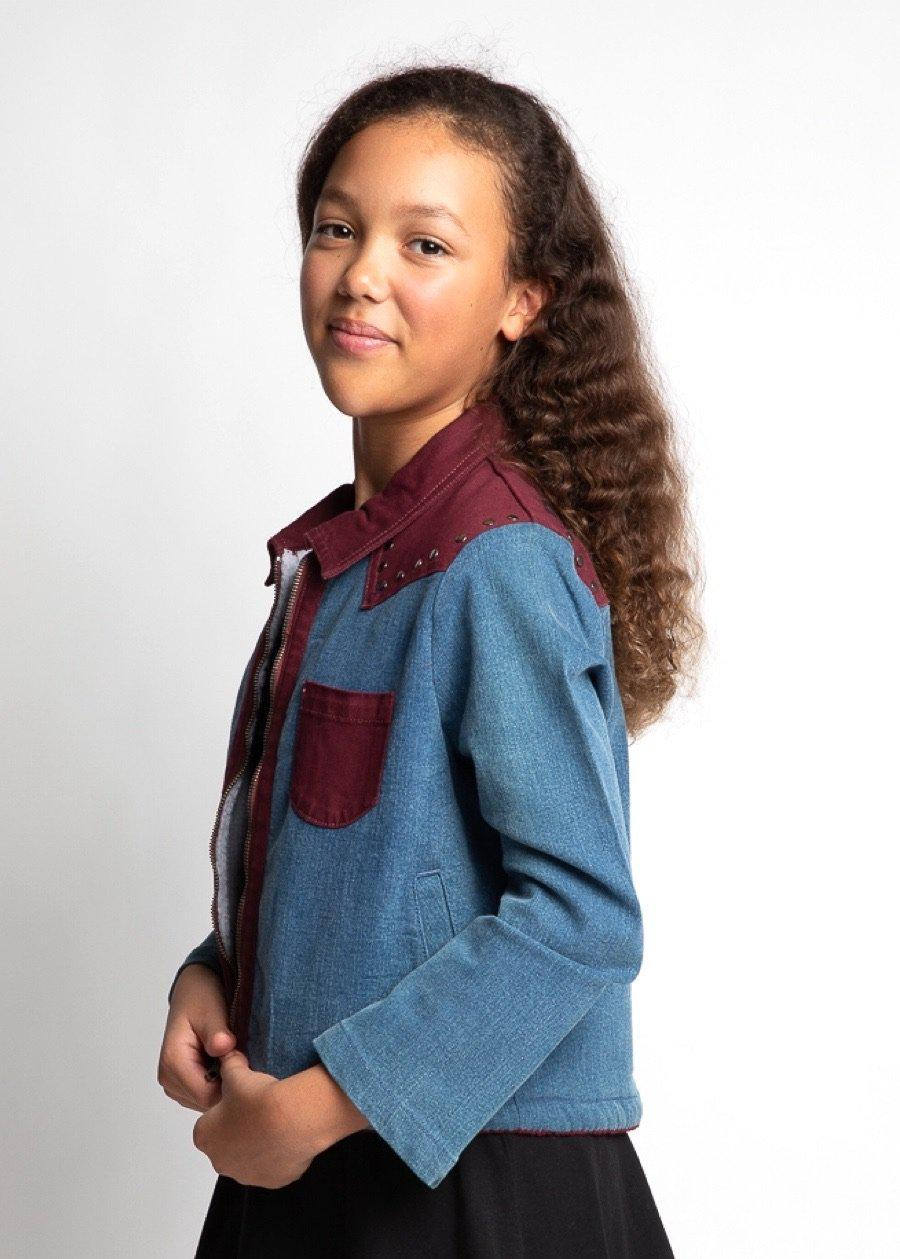 Youth Girls Blue Rodeo Jacket