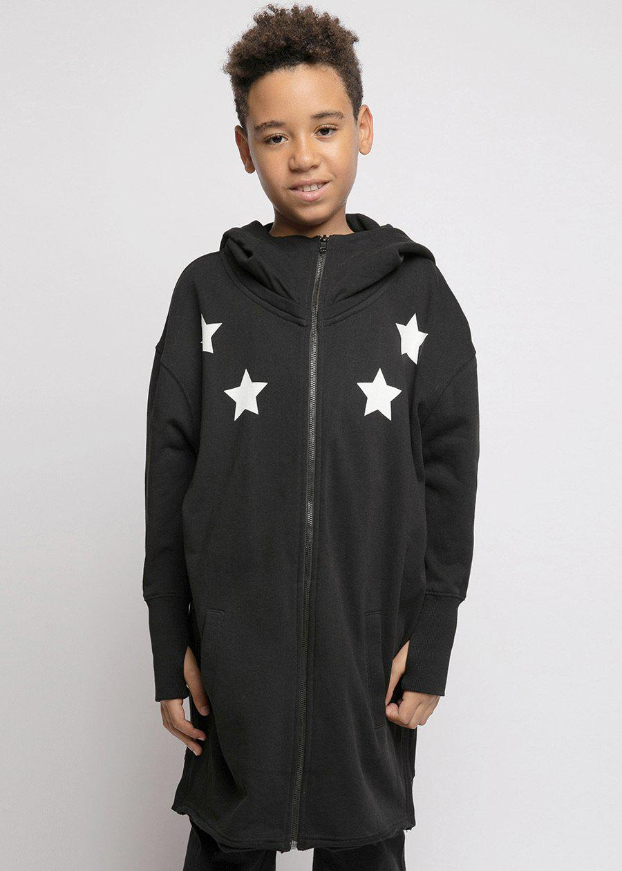 Youth Boys Longline Hoodie with Stars