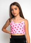 Pink Strawberry Cami Top