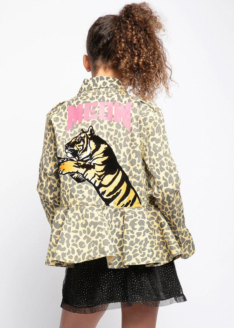 Youth Girls Meow Leopard Jacket