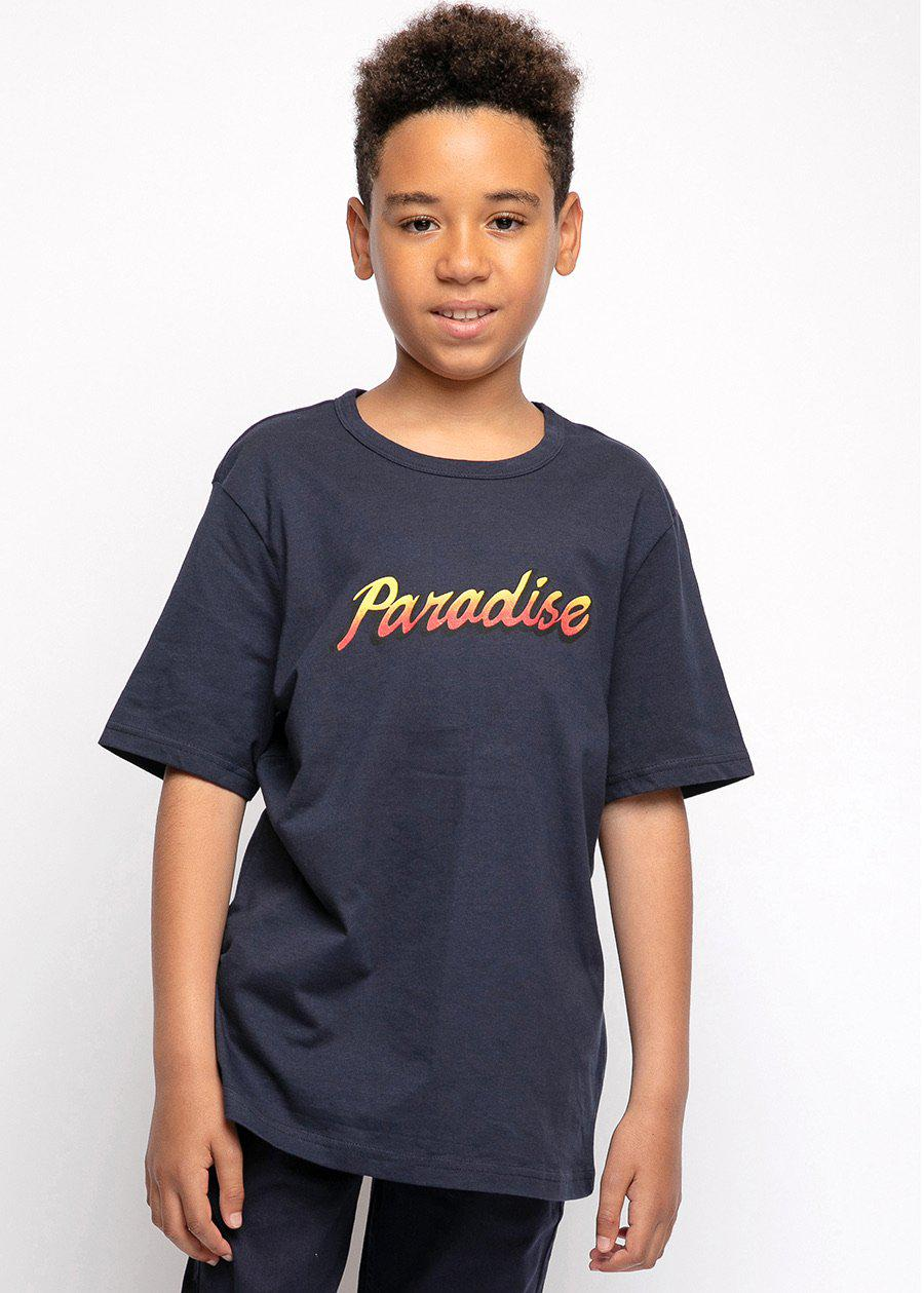Boys Paradise Slogan Navy T-shirt-TeenzShop
