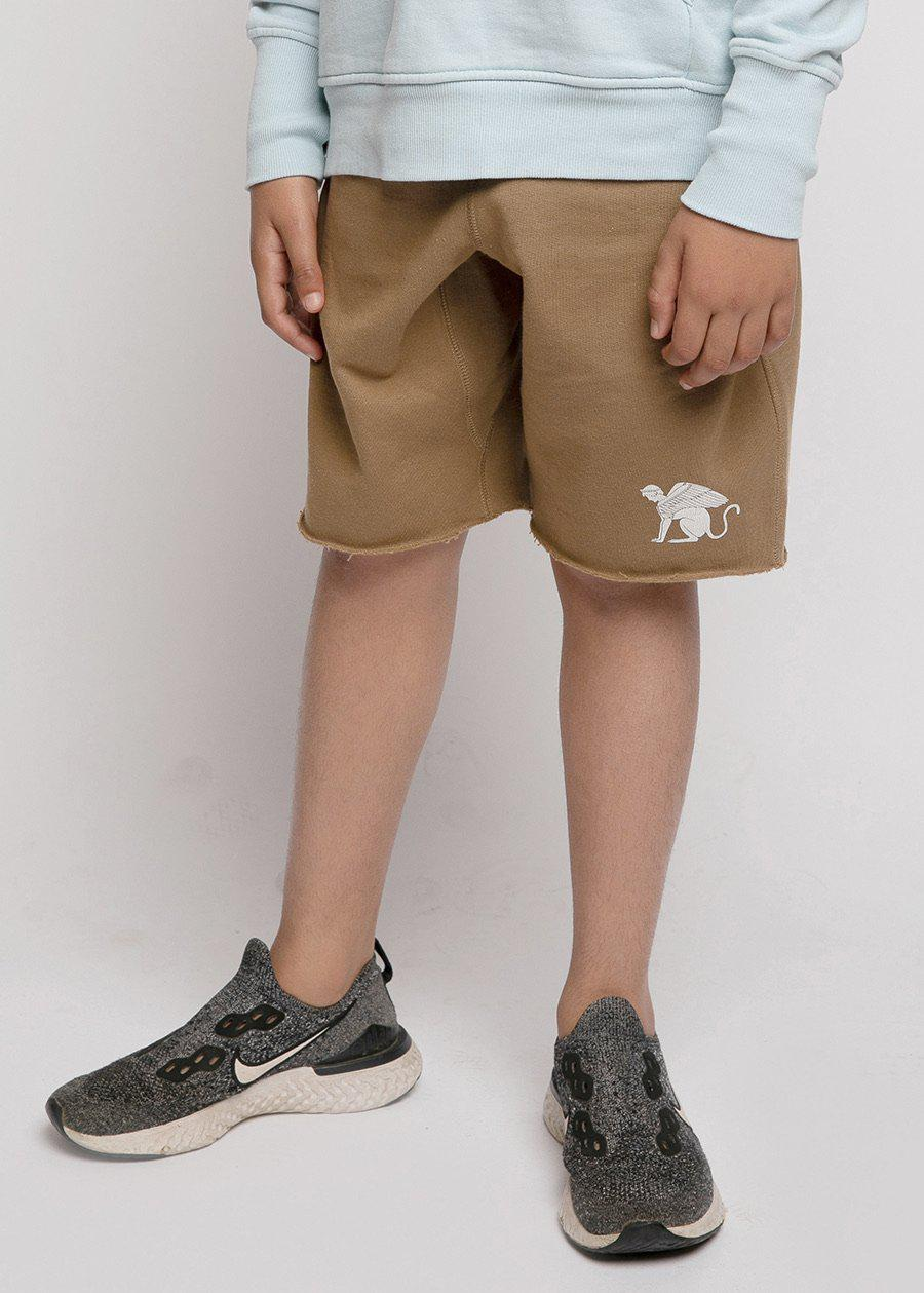 Boys Sweat Shorts With Sphinx Logo-TeenzShop