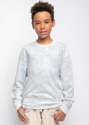 Youth Boys Blue Tie-Dye Light Sweatshirt