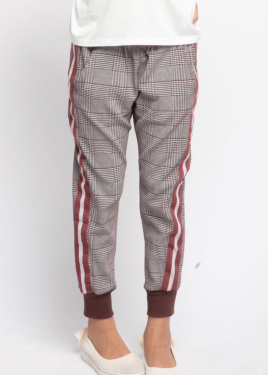 Youth Girls Prince of Wales Checkered Joggers