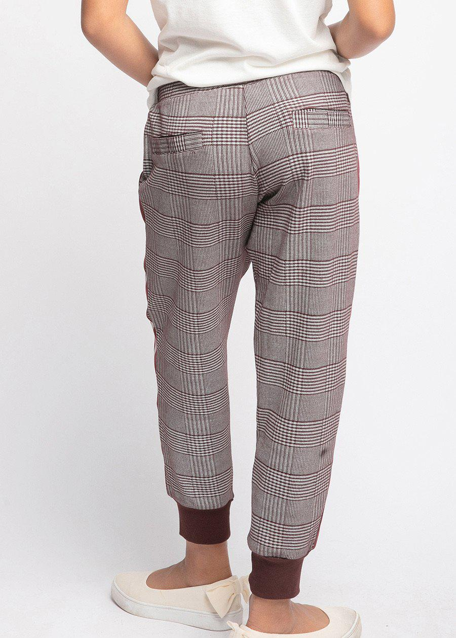 Girls Prince of Wales Smart Check Joggers