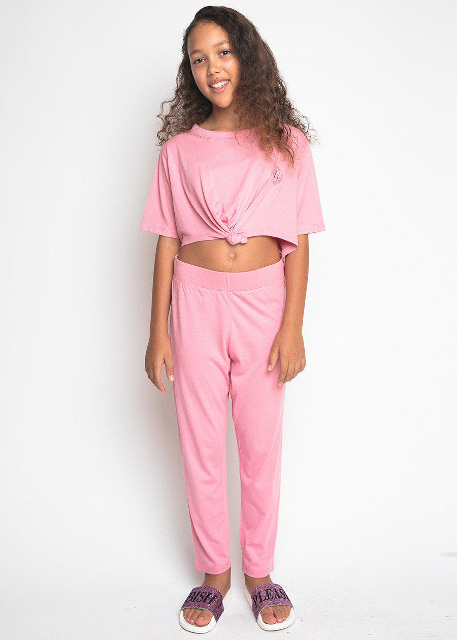 Girls Light Pink Pyjama Set