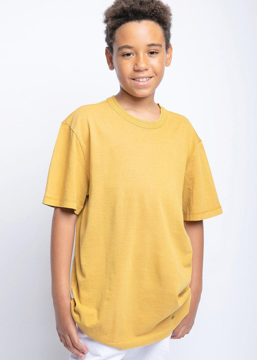 Youth Boys Yellow Graphic Logo T-shirt