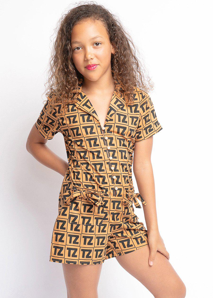 Girls TZ Logo Playsuit