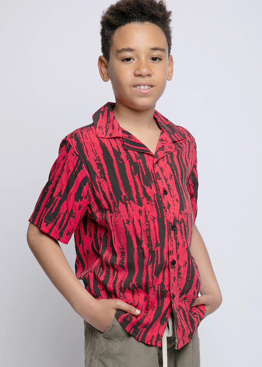 Boys Red Rocker Shirt-TeenzShop