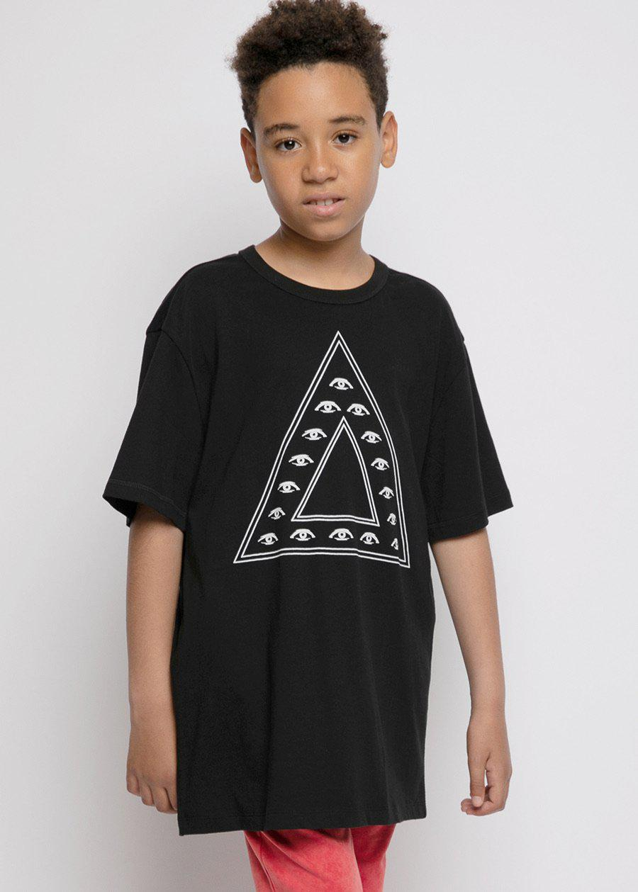 Youth Boys Illuminati Triangle Graphic T-Shirt