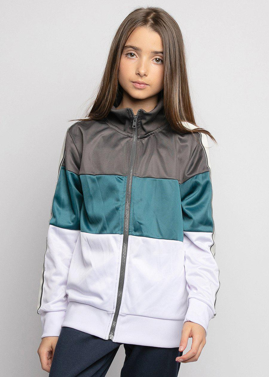 Youth Girls Zip-Up Track Jacket - SUSTAINABLE JACKET