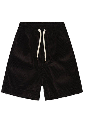 Boys Black Corduroy Rib Shorts