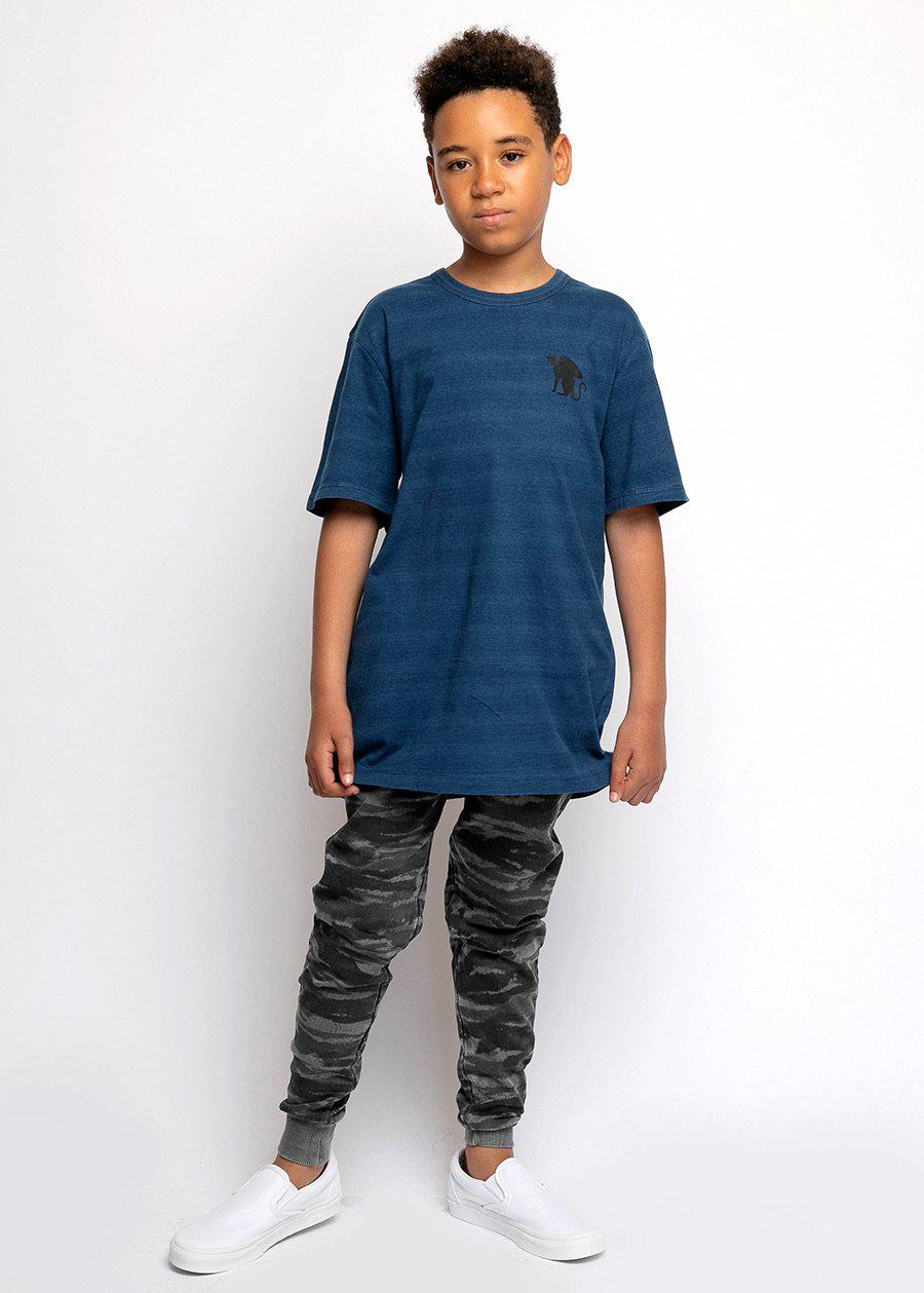Youth Boys Grey Camo Joggers With Logo