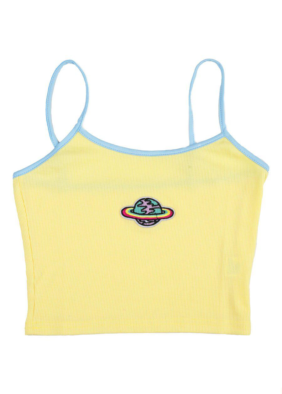Girls Yellow Planet Cami Top