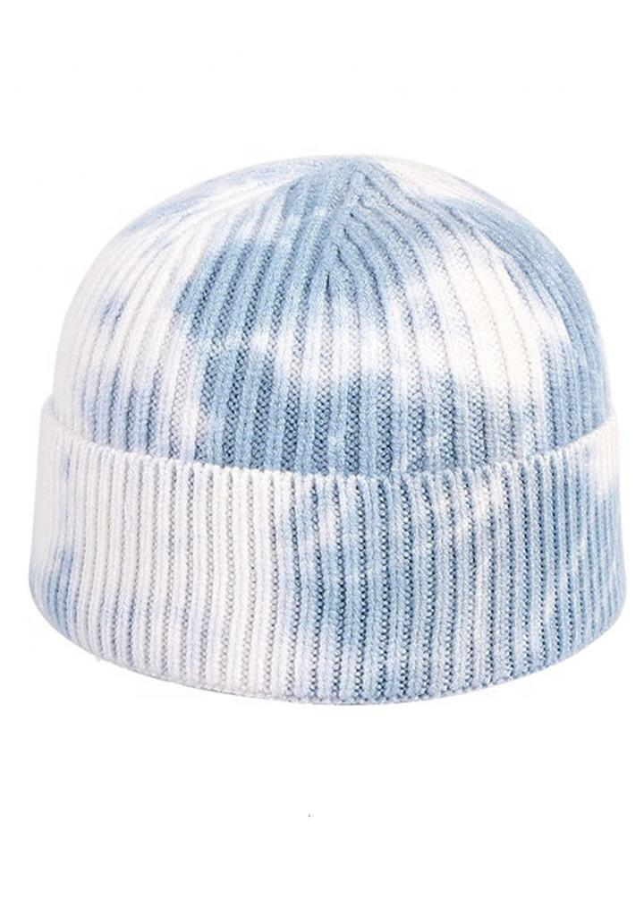Light Blue Tie-Dye Beanie-TeenzShop