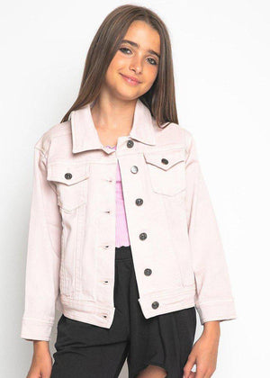 Youth Girls Pink Denim Jacket